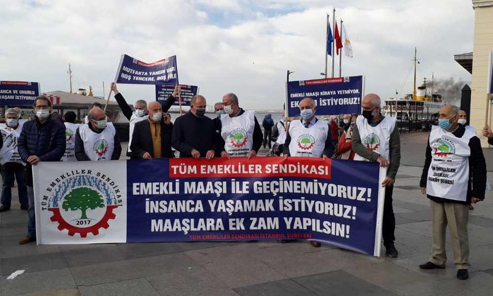 Emeklilerden 'bütçe' protestosu: Krizin faturasını Saray'a ödettirmek için söz veriyoruz