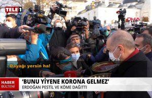 Erdoğan'dan isteğini reddeden muhabire: 'Dayağı yersin ha'