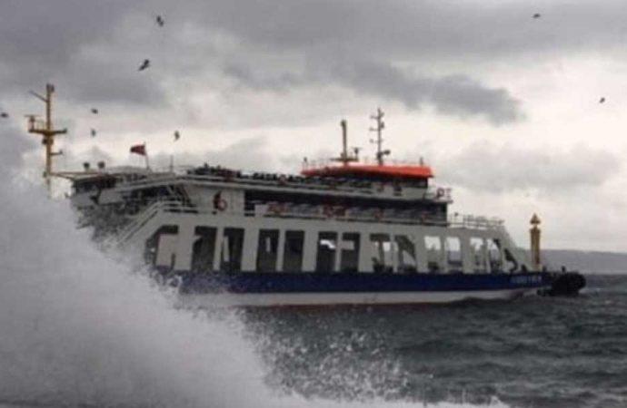 Bu ilde yaşayanlar dikkat: Fırtına uyarısı nedeniyle, feribot seferleri iptal edildi!