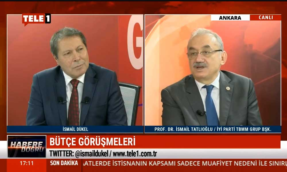 İyi Parti TBMM Grup Başkanı Prof. Dr. İsmail Tatlıoğlu: Bu bütçenin vizyonu yok