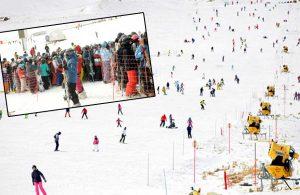 Kısıtlama bitti, Erzurum'da kayacak yer kalmadı