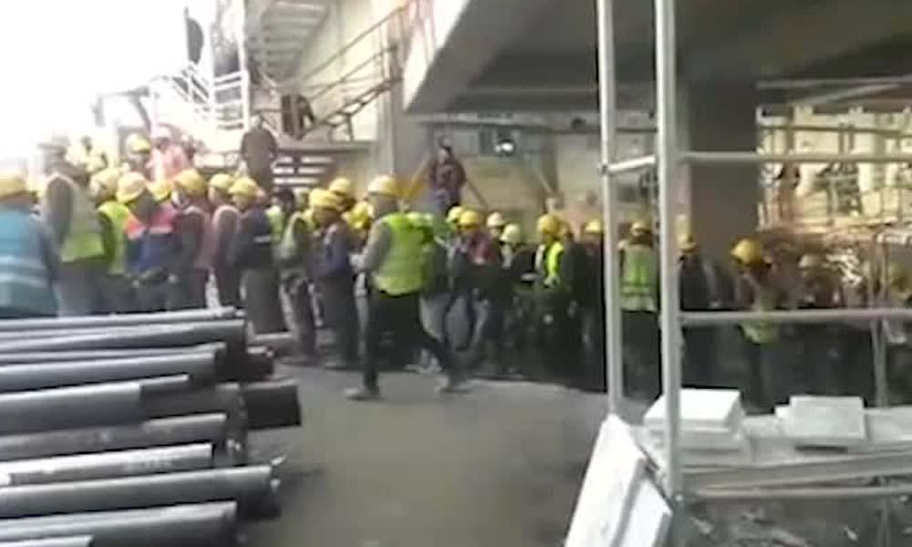 Korona önlemleri hiçe sayıldı! AKM şantiyesinde mangal partisi