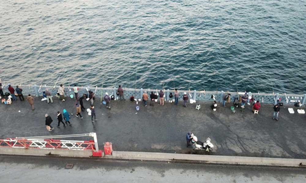 """""""Olta balıkçılığı genelgesi"""" öncesi Galata'da vahim durum"""