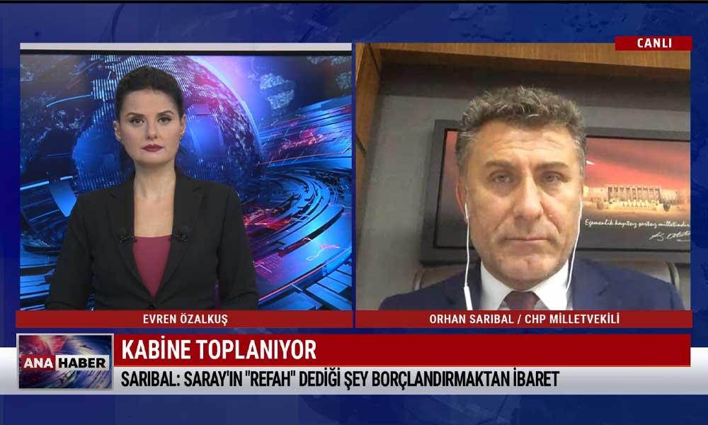 CHP Bursa Milletvekili Orhan Sarıbal: Umutların tükendiği tarihsel bir süreci yaşıyoruz