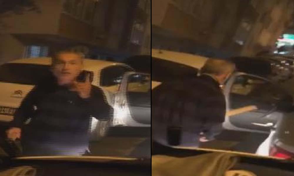 Trafikte servis aracına saldırı anı kamerada