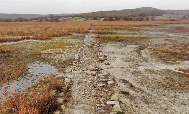 Terkos gölü çekildi tarihi yol ortaya çıktı