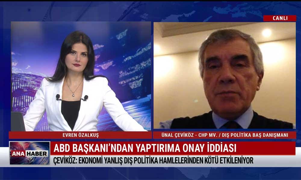 CHP Dış Politika Başdanışmanı Ünal Çeviköz: Dış politikadaki yanlışlar, haklı olduğumuz başlıkları da etkisiz kılıyor