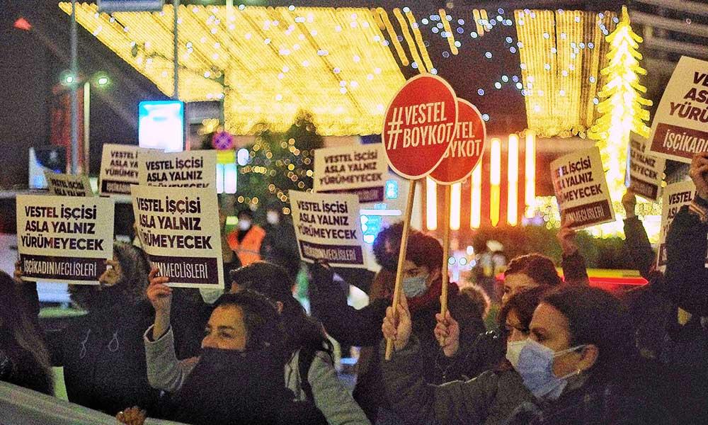Kadınlar Vestel önünde eylemdeydi: Kadınları hak aradıkları için işten çıkaranlar İstanbul Sözleşmesi'nin tam karşısında yer alanlardır