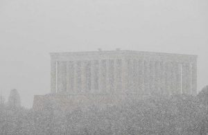 Ankara'da kar yağışı başladı, yüksek kesimler beyaza büründü