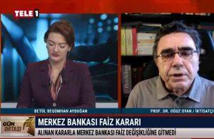 Prof. Dr. Oğuz Oyan, Merkez Bankası'nın kararını TELE1'de yorumladı – GÜN ORTASI
