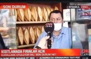Fırıncı pahalılıktan bahsedince, CNN Türk muhabiri telaşla yayını kesti