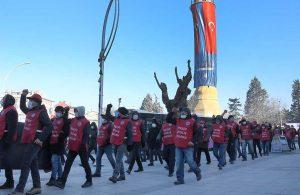 Sendikaya üye oldukları gerekçesiyle işten çıkarılan işçiler: Bu gelen işçinin ayak sesleri