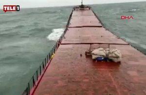 Bartın'da batan geminin kırılma anı ortaya çıktı: Emekçilerin yardım çığlığı duyuldu