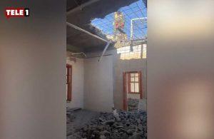 Tarihi binada duvar kırıcı ile yapılan çalışmayı İBB durdurdu