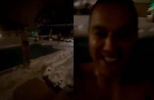 Josef de Souza galibiyetin ardından sözünü tuttu, buz gibi havuza atladı
