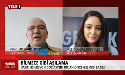 """Prof. Dr. Sarp Üner, aşı hakkındaki """"bilinmezlikleri"""" TELE1'e anlattı!"""