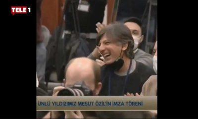 Kaşeler'in 'Mesut Özil' tweeti, imza töreninde ekrana yansıtıldı: Herkes kahkaha attı!