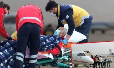 Prof. Dr. İlhan Başgöz, ambulans uçakla Türkiye'ye getirildi