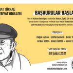 Atakum Belediyesi'nin düzenlediği Vedat Türkali Edebiyat Ödülleri için başvurular başladı