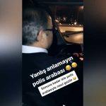 Polis arabasında alkol alıp, memura siren çaldırdılar!