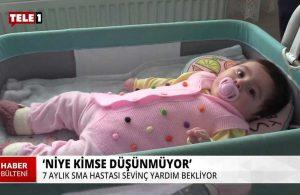 SMA hastası 7 aylık Sevinç'in ailesi 'isyan etti': 1300 çocuğa bakamayan devlet olur mu?