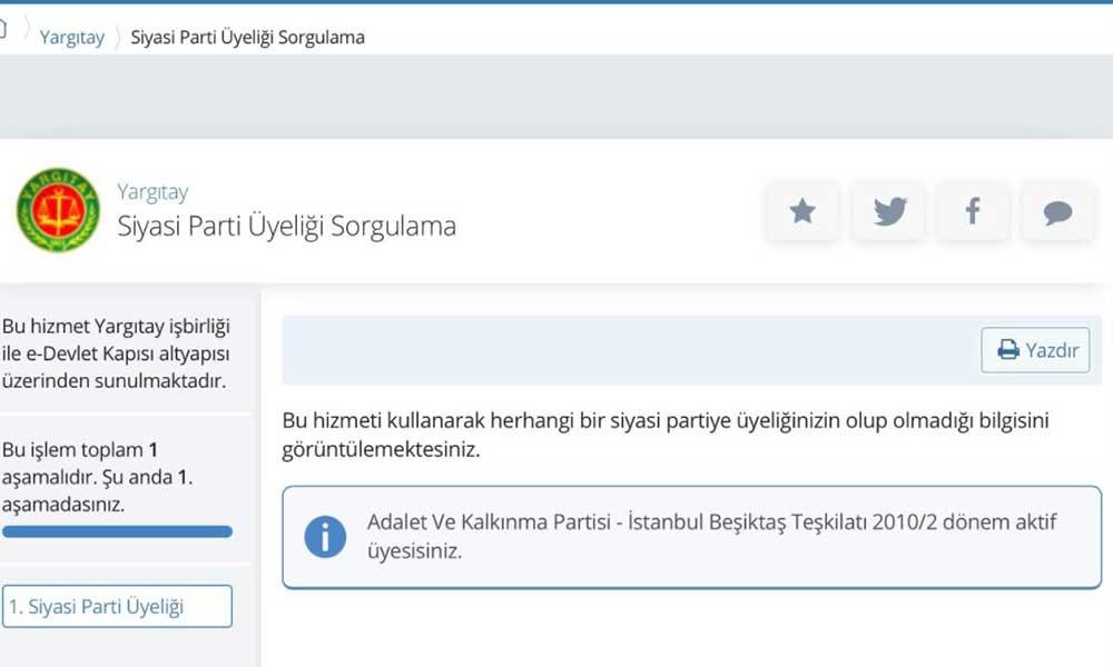 E-Devlet'e bakın AKP üyesi çıkabilirsiniz