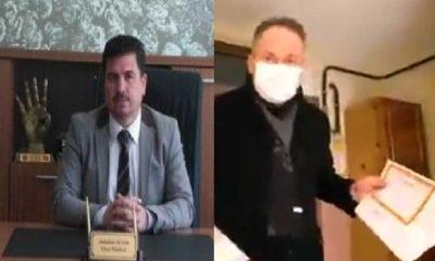 Okul müdürü bilgileri paylaştı, AKP'li il başkanı öğrencilerin evlerine giderek karne dağıttı