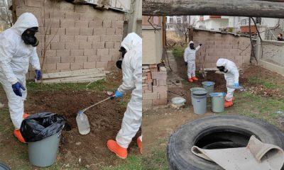Toprağa gömülü 11 bidon bulundu: Kimyasal olabilir
