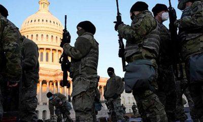 Tarihlerinde ilk… ABD askerleri Kongre Binası'nda nöbet tutuyor