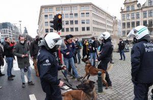 Belçika'da koronavirüs protestosu