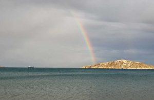 Boğsak Adası'nda gökkuşağı sürprizi