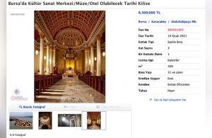 Tarihi kilise 6 milyon liraya satışa çıkarıldı