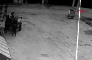 At arabasıyla metal sanayiye girdiler! Hırsızlık anları kameralara yansıdı