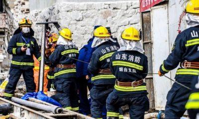 Çin'de mahsur kalan madencilerden 11'i kurtarıldı