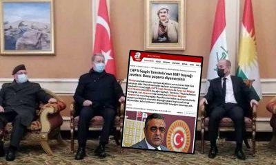 Yandaş medya Tanrıkulu'nu hedef almıştı… Hulusi Akar IKBY bayrağı önünde poz verdi