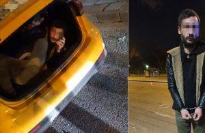 Kısıtlamada ceza yememek için taksi bagajında kaçarken yakalandı