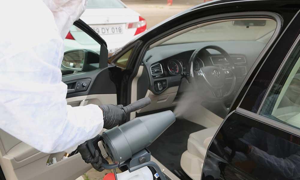 Efeler'in araç dezenfeksiyonuna yoğun ilgi