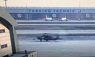 Askeri helikopterin kaza anı görüntüleri ortaya çıktı