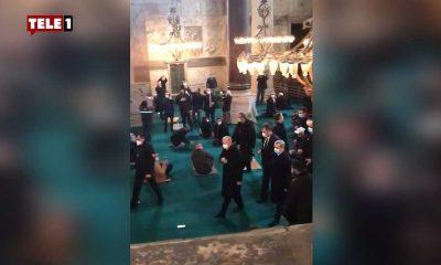 Ayasofya'da tepki çeken görüntüler: Erdoğan'ı gören ayağa kalktı ve 'Allahu Ekber' diye bağırdı