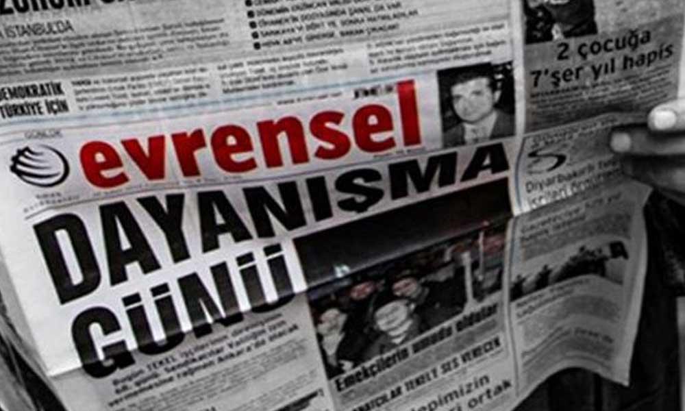 Evrensel gazetesine 3 gün ilan kesme cezası