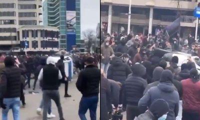 Hollanda'da Covid-19 kısıtlamalarına karşı protesto