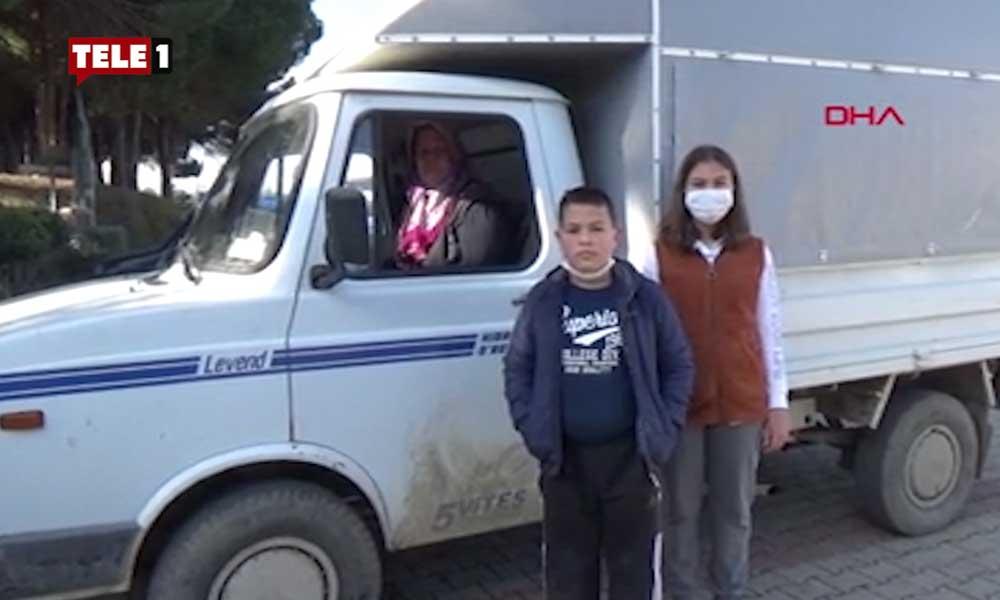 Aksiyon filmi gibi: İçinde 2 tane çocuk olan kamyoneti kaçırdı, 20 kilometre sonra yakalandı!