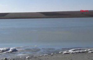 Hava sıcaklığı eksilere düştü, Küçük Göl dondu