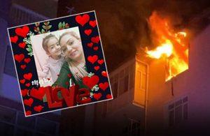 Yangından korkan minik Melek pencereden atlayarak anne yanarak can verdi