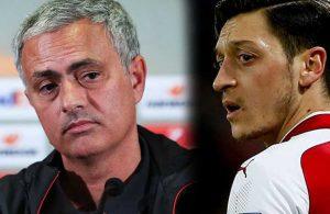 Jose Mourinho'dan Mesut Özil'i şoke eden gönderme