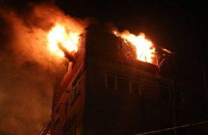 Çatı katında patlama: Patlama anları böyle görüntülendi!