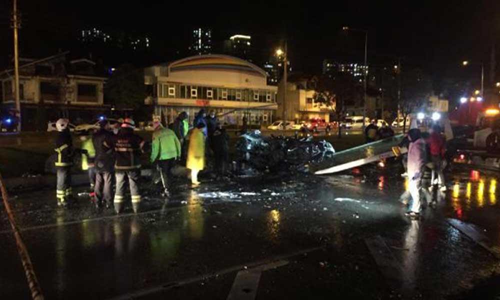Ordu'da zincirleme kazada, 2 otomobil yandı; 1 ölü, 2 yaralı