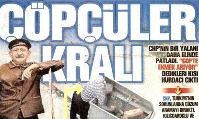Yandaş gazete, Kılıçdaroğlu'nu 'Çöpçüler Kralı' diye manşete taşıdı!