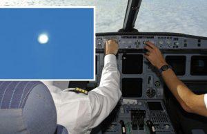 Pilotlar, uçuş sırasında 'UFO' videosu çekti
