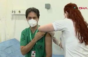 Hastanelerde aşılama başladı